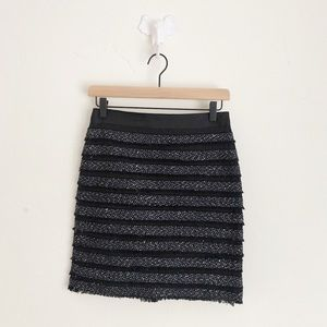 The Limited Tweed Stripe Skirt Blue Black Size 0